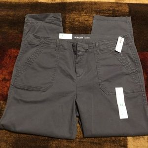 NWT Old Navy Gray Pixie Ankle Pants 14 SD6